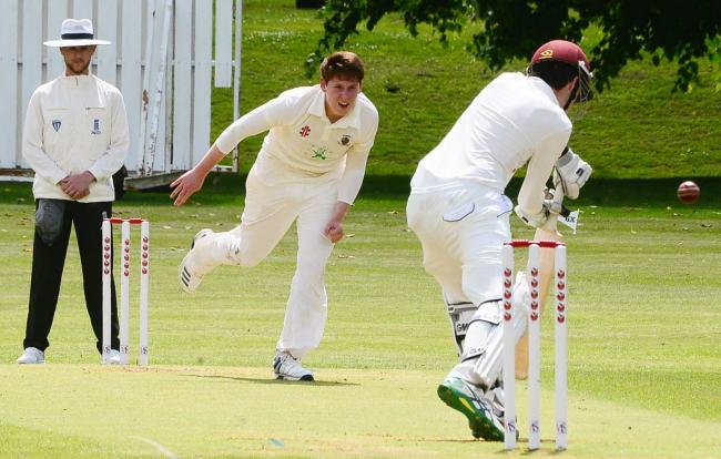 Taunton bowler James Hayes