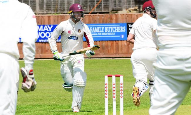TON: Ed Byrom scored a big century for Taunton St Andrew's on Saturday. Pic: Steve Richardson.