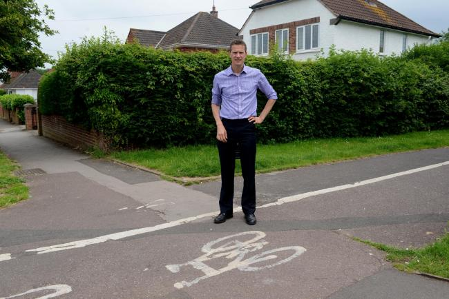 SAFETY CALLS: Dr Peter Campbell, who wants to see improved cycle paths