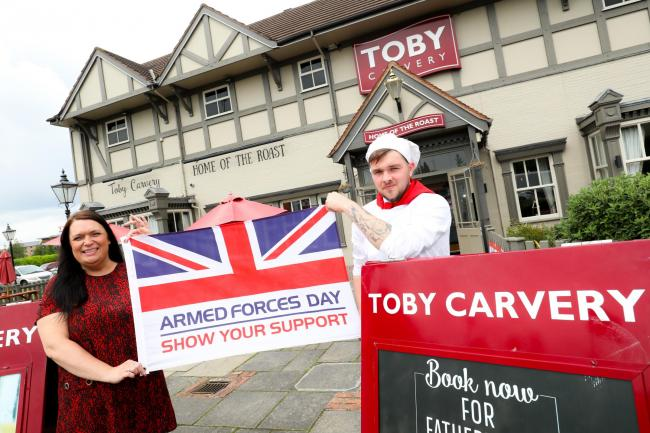 FREE MEALS: Toby Carvery, supporting our troops