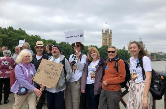 STANCE: Protestors from Taunton Deane in London to lobby parliament to take climate change seriously