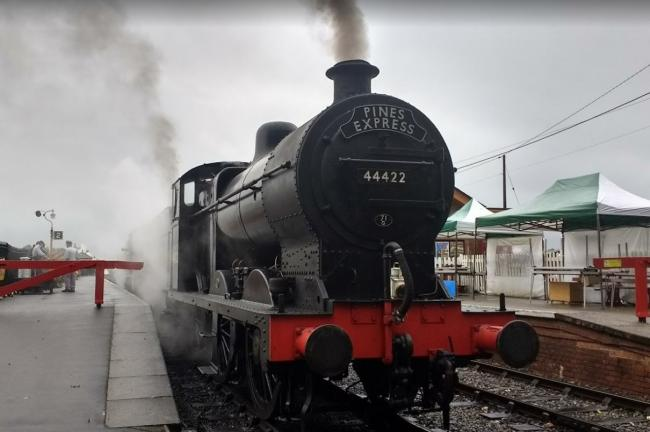 CONNECTION: A steam train at Bishops Lydeard Station