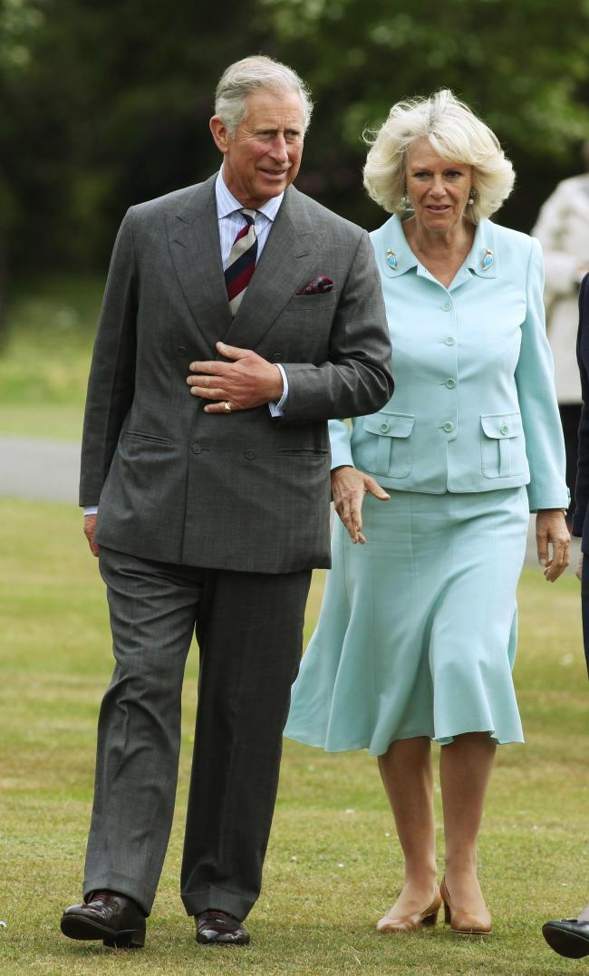 Visit to Exbury Gardens and Railway by the Prince of Wales Prince Charles and the Duchess of Cornwall Camilla.
