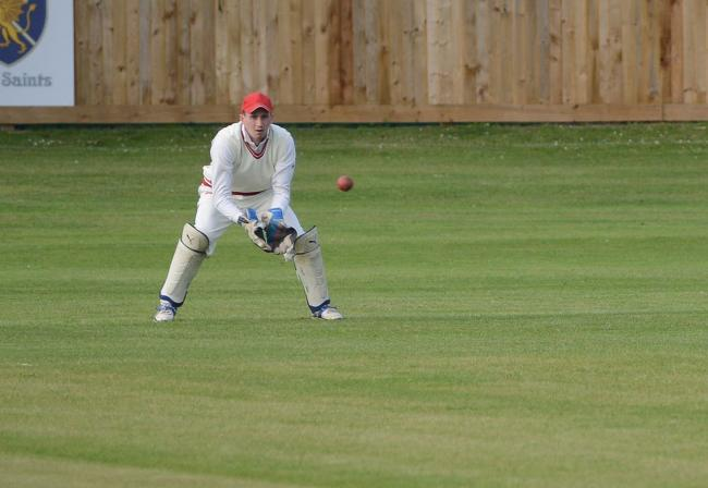 TON UP: Freddie Wilson, who scored a brilliant century for Minehead on Saturday. Pic: Aisling Magill