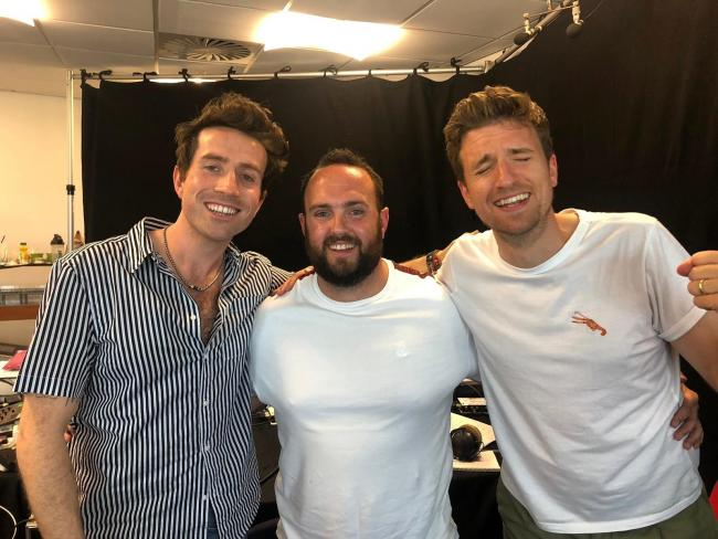 FOUND: Nick Grimshaw, listener Scott and Greg James