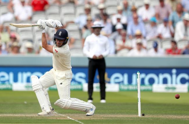 England's Jack Leach hits for a four during day two of the Specsavers Test Series match at Lord's, London. PRESS ASSOCIATION Photo. Picture date: Thursday July 25, 2019. See PA story CRICKET England. Photo credit should read: Bradley Collyer/PA W