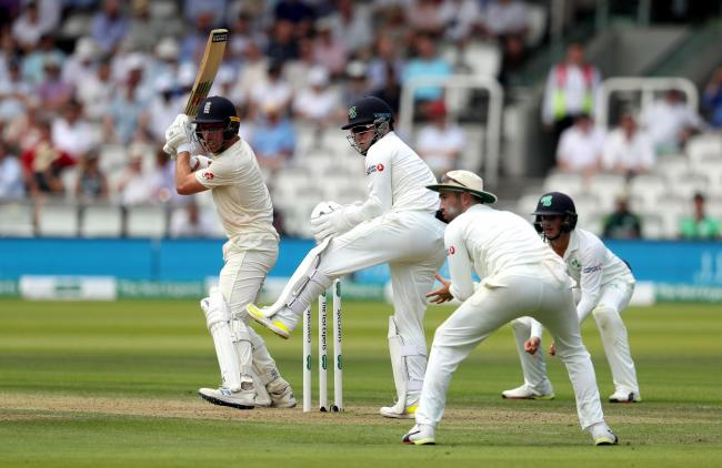 England Jack Leach in batting action during day two of the Specsavers Test Series match at Lord's, London. PRESS ASSOCIATION Photo. Picture date: Thursday July 25, 2019. See PA story CRICKET England. Photo credit should read: Bradley Collyer/PA Wire.