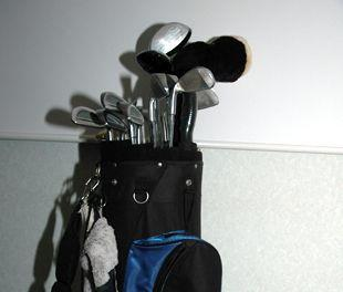 STOLEN: Stock image of golf clubs