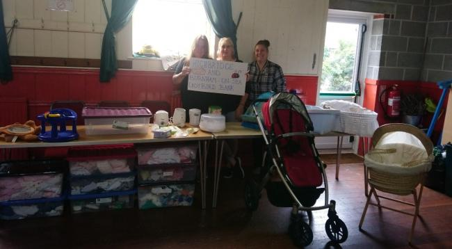 BABY BANK: Tammy Ellis, Kay Marie Sprackland and Lucky Lukins from Highbridge and Burnham-on-Sea Baby Bank
