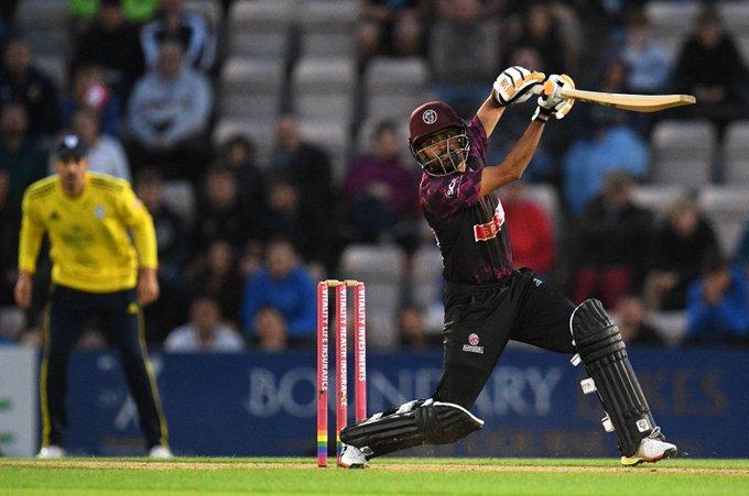COUNTY CRICKET: Babar Azam leads Somerset to Vitality Blast win at Hampshire