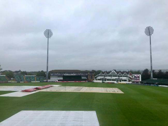 WASHOUT: A very damp Cooper Associates County Ground in Taunton. Pic: SCCC