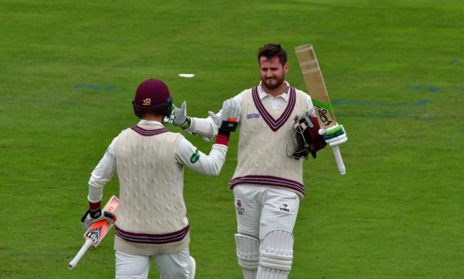 CENTURION: Steve Davies made a crucial 109 for Somerset at Edgbaston and will play a key part in the final day run chase