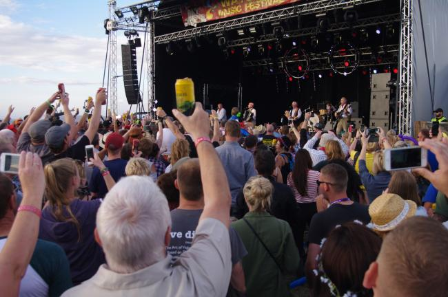 HOUSE BAND: The Wurzels wow the crowds. PICTURE: Watchet Music Festival