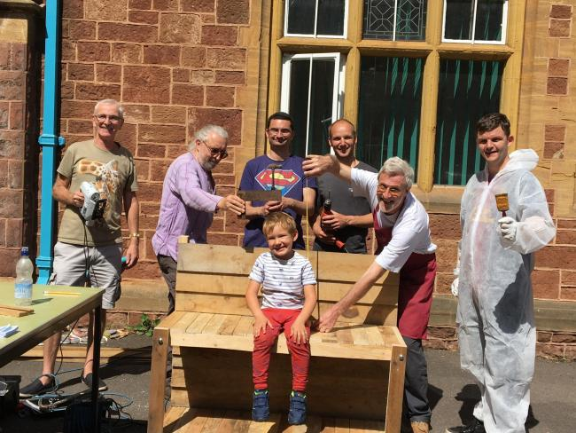 PROACTIVE: The pilot event for Minehead Men's Shed proved a success