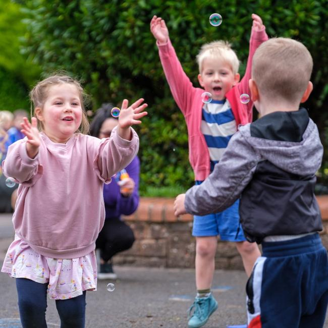 REPORT: Children chase bubbles to help improve their 'physical literacy'
