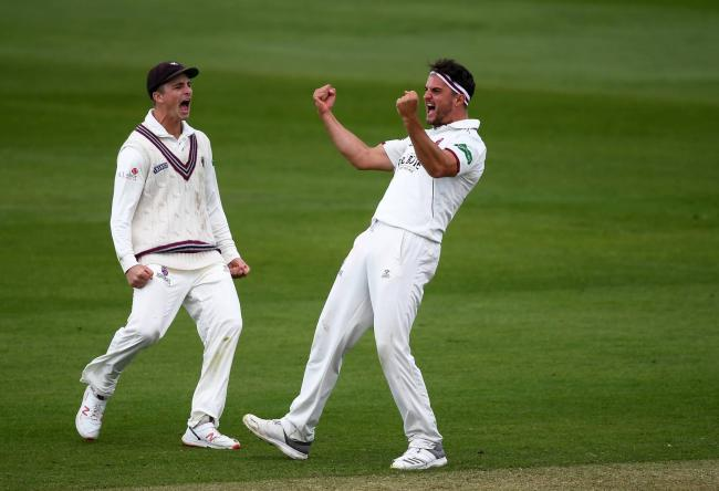 Jack Brooks (right) will play for Taunton Deane when his county commitments allow this summer. Pic: Alex Davidson/SCCC