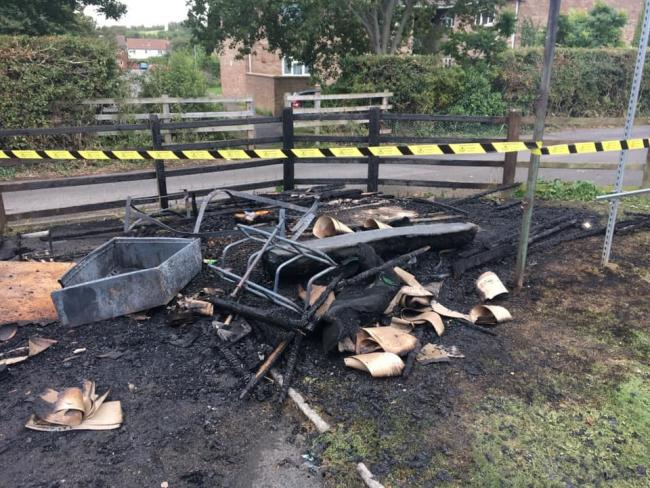 DESTROYED: What is left of the Watchet Cricket Club storage shed