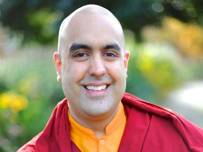 VISIT: Gelong Thubten gave a workshop on meditation and mindfulness at The Sangha House in Taunton