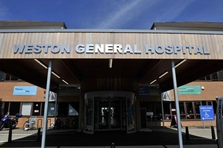 APOLOGY: Over the outbreak at Weston General Hospital. PICTURE: Weston Area Health NHS Trust