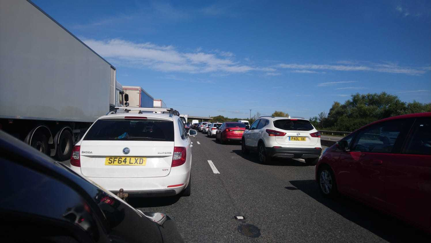 Delays on the M5 through Somerset after crash between Bridgwater junctions