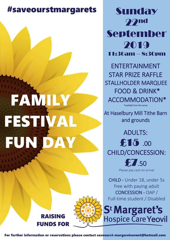 Family Festival Fun Day in aid of St. Margaret's Hospice Yeovil.