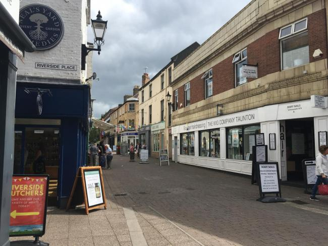 NO CARS: The pedestrianised road in Taunton town centre