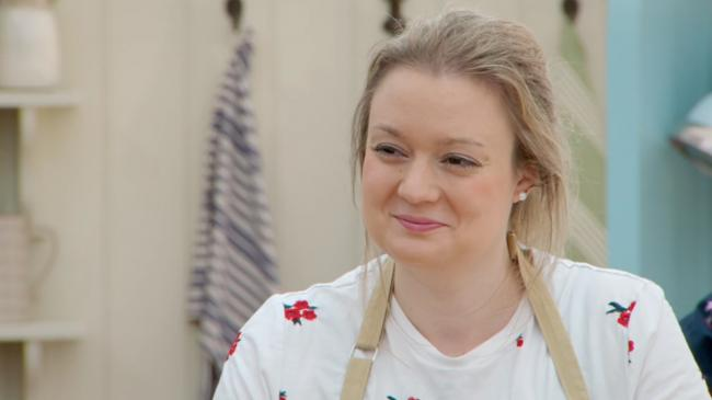 Rosie Brandreth-Poynter in week 4 of Great British Bake Off