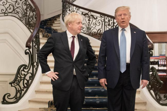 WHO KNOWS?: Boris Johnson with Donald Trump. PICTURE: Stefan Rousseau/PA Wire
