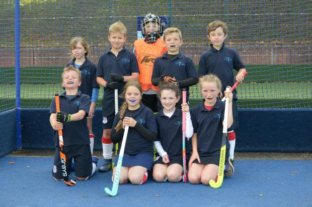 Youngsters from local hockey clubs take part in a Tournament held at Wellington School. Taunton Vale