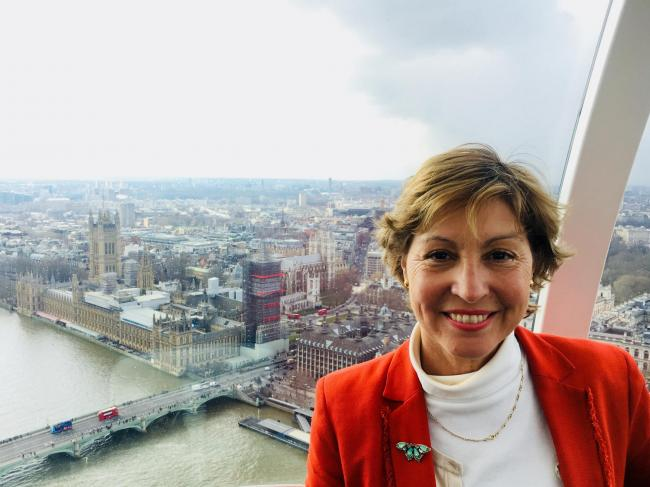 VISITS: Rebecca Pow, MP for Taunton Deane