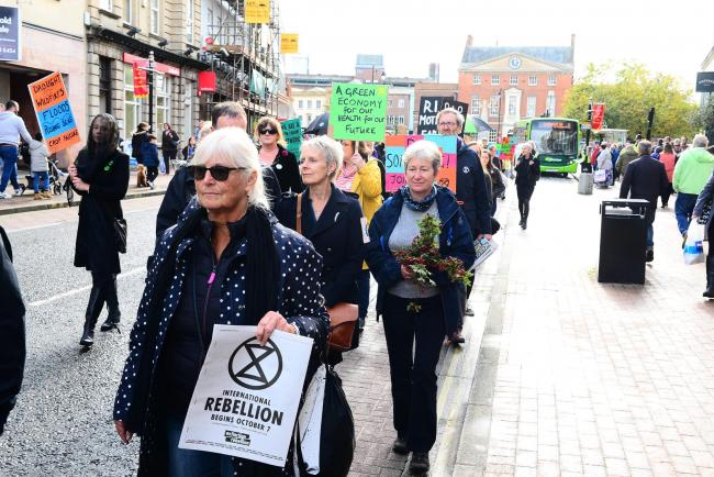DEMONSTRATION: An Extinction Rebellion protest in Taunton on October 12
