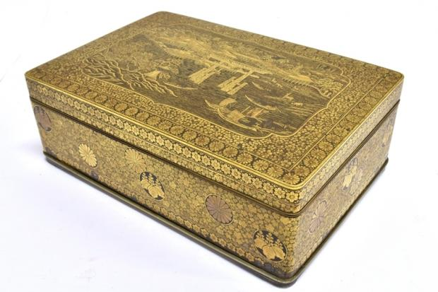BEAUTIFUL: Japanese gilt metal box bought for £3,620 at Greenslade Taylor Hunt.