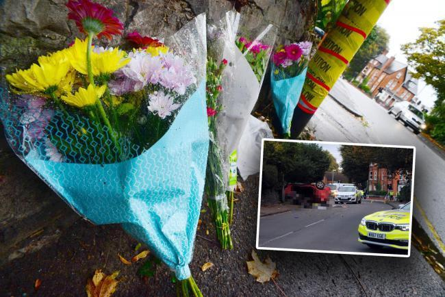 TRIBUTES: Flowers have been left at the scene of the crash