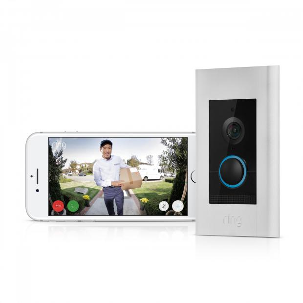 Somerset County Gazette: ULTIMATE IN HIGH-TECH: Ring Video Doorbell Elite, £449. Picture: Ring/PA