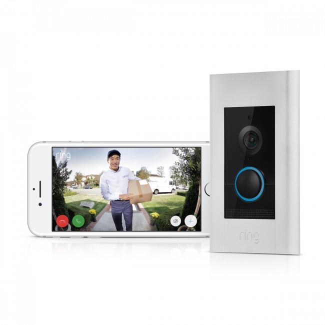 ULTIMATE IN HIGH-TECH: Ring Video Doorbell Elite, £449. Picture: Ring/PA