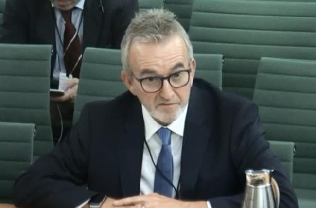 Andy Nash gives evidence to the DCMS Select Committee