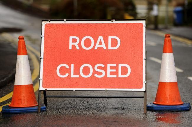 Road closed due to fallen tree as bad weather continues