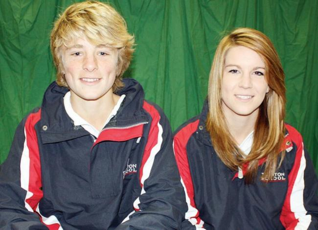 TALENT-SPOTTED: Taunton School hockey players Tom Abell and Sophie Bowden