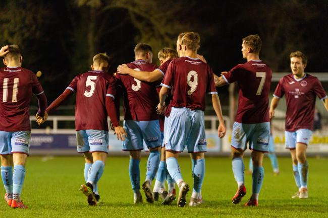 OPTIONS: There's plenty of goalscoring potential in this Taunton Town squad. Pic: Ashley Harris