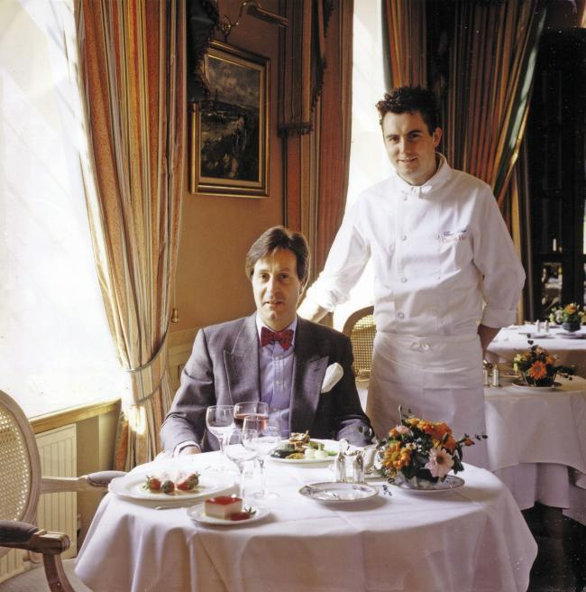 HAPPY MEMORIES: Gary Rhodes during his time at The Castle with director Kit Chapman