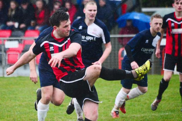 ON TARGET: Bishops Lydeard player Mark Clunie, who scored at Wincanton on Saturday