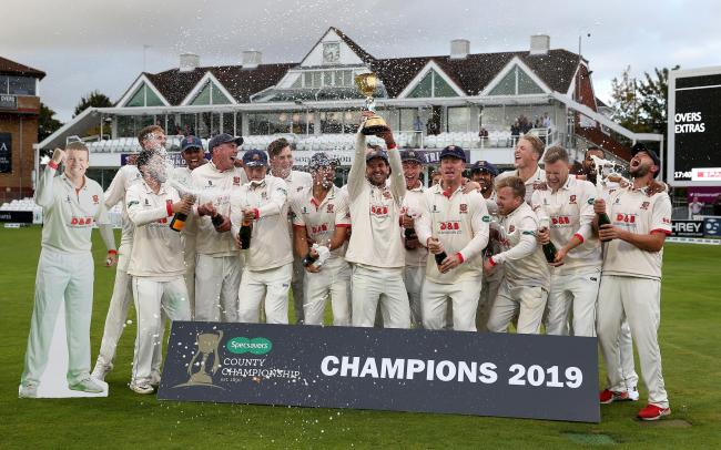 DENIED: Essex prevented Taunton claiming a maiden County Championship title - and that decisive match has resulted in Somerset being handed a points deduction for next season. Pic: PA Wire