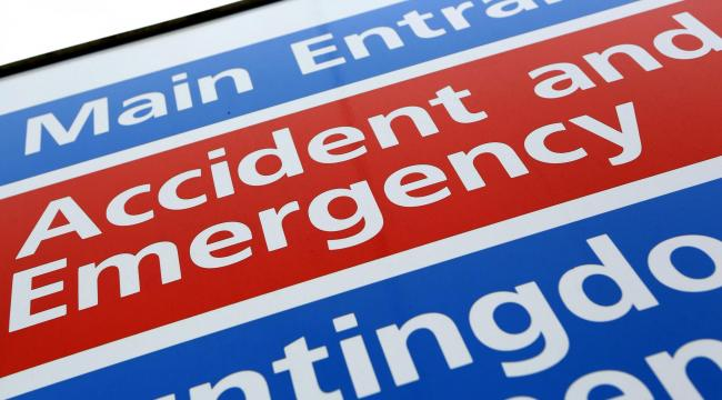 File photo dated 21/05/13 of a sign for an Accident and Emergency department at an NHS hospital. Patient waits in A&E continue to get worse and more people than ever are on the waiting list for NHS treatment, new figures have shown. Photo credit shoul
