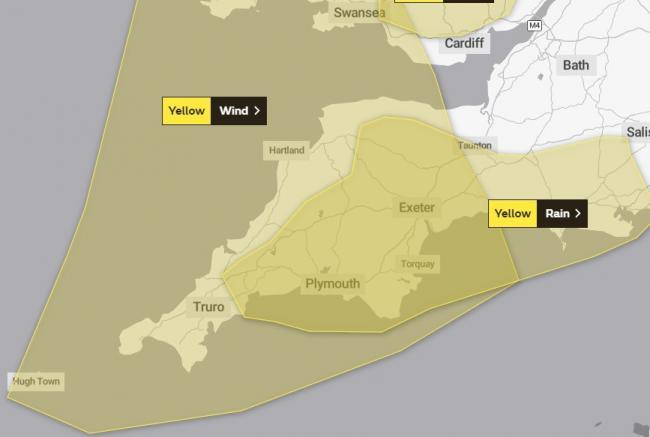 WARNING: Met Office issues warning for wind and rain