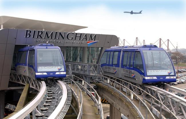 EXAMPLE: A tramlink at Birmingham Airport