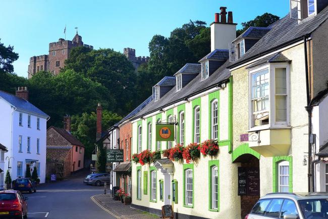 INCIDENT: Emergency services were called to the Dunster Castle Hotel at around 8am on New Year's Eve