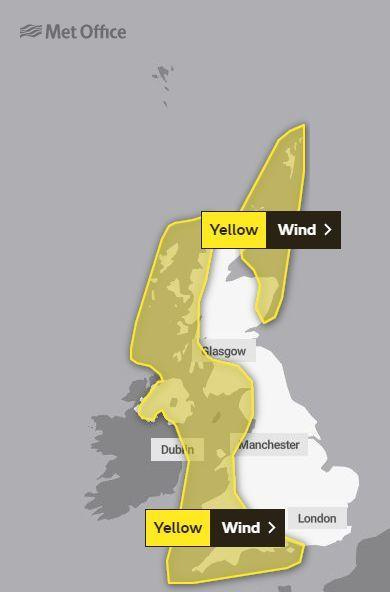 YELLOW WARNING: Expecting some windy weather over the next couple of days