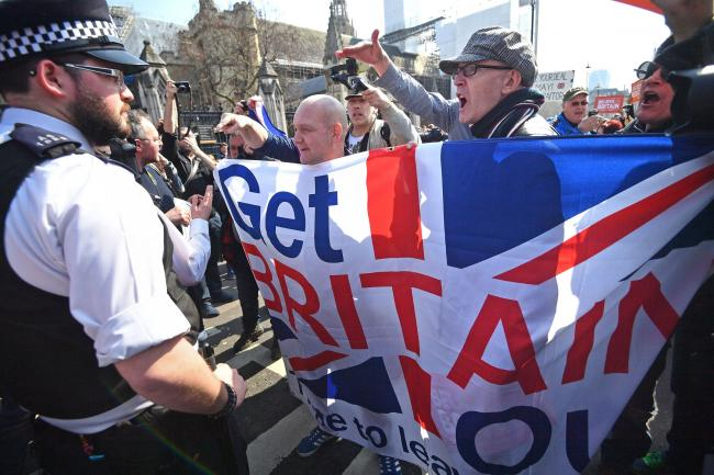 CONSEQUENCES: Pro-Brexit protesters outside Westminster, London. PICTURE: Victoria Jones/PA Wire