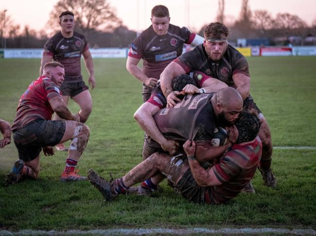PROLIFIC: Isaac Dalton scores his second try in Taunton's win over Tonbridge Juddians. Pic: Clayton Jane
