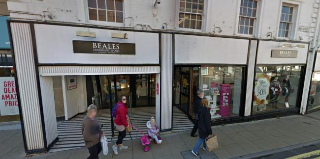 CLOSING: The Beales store in Yeovil looks set to go. PICTURE: Google Street View